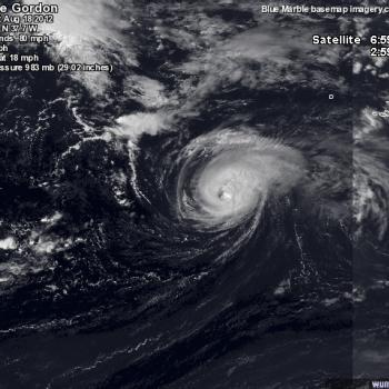 Le cyclone Gordon aux portes de l'Europe